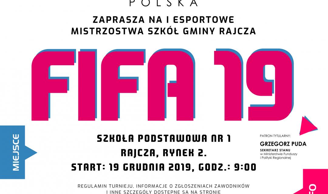 IEsportowe Mistrzostwa FIFA19 dla Szkół Gminy Rajcza
