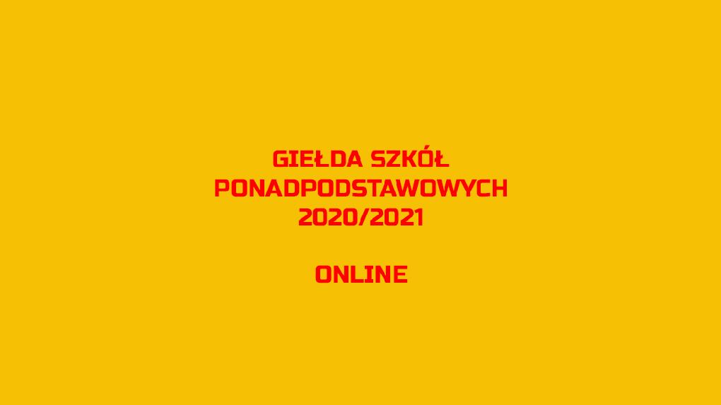 Giełda Szkół Ponadpodstawowych online